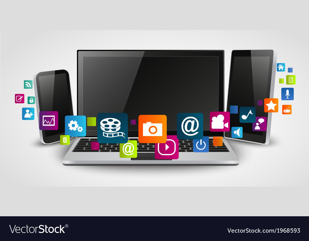 Tablet computer and mobile phones vector | Price: 1 Credit (USD $1)