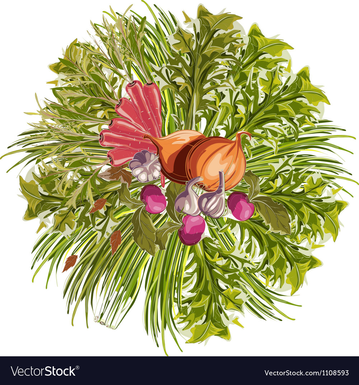 Vegetables decorative circle vector   Price: 1 Credit (USD $1)