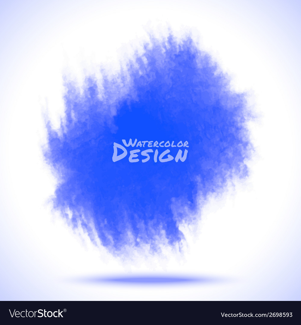 Watercolor blue spot vector | Price: 1 Credit (USD $1)