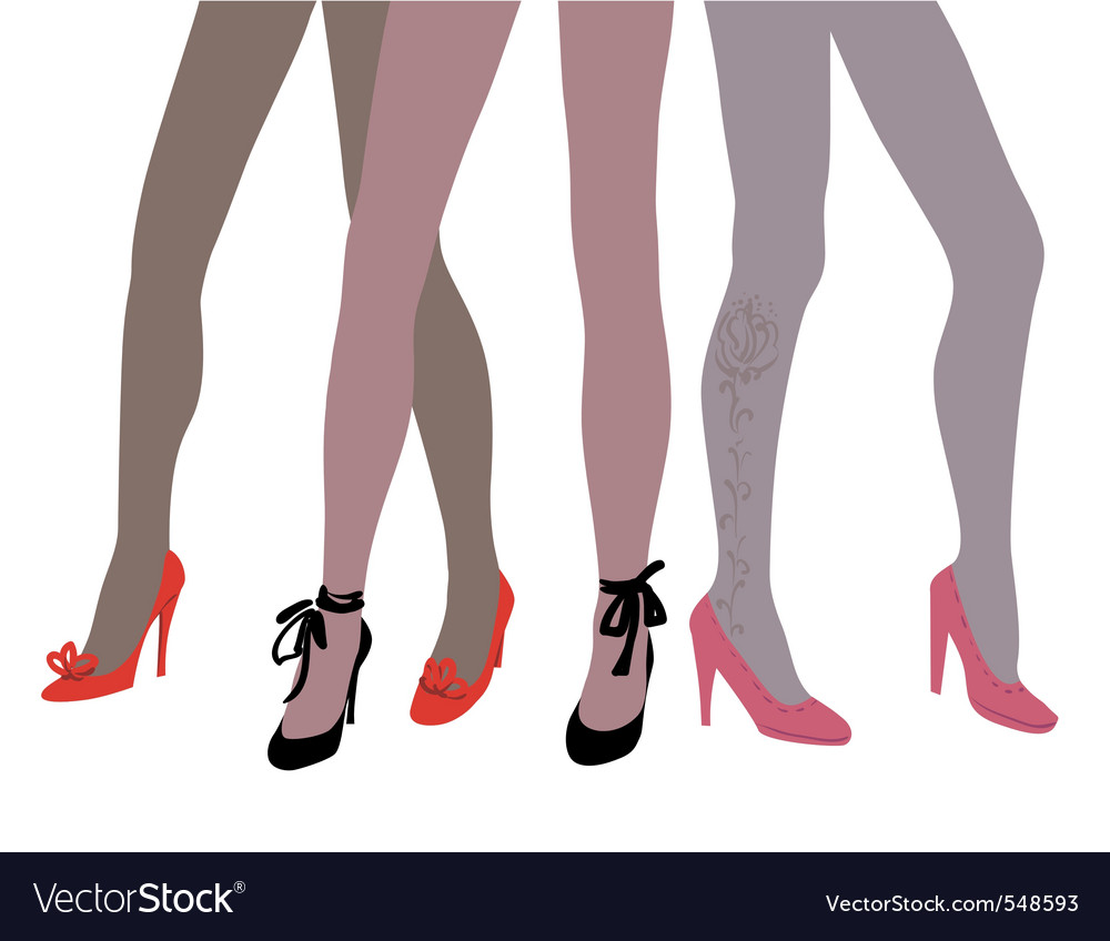 Woman legs in fashion shoes vector | Price: 1 Credit (USD $1)