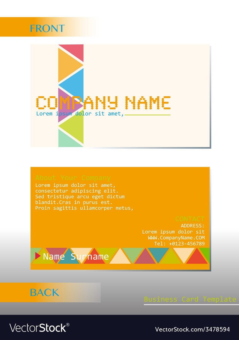 A business card vector | Price: 1 Credit (USD $1)