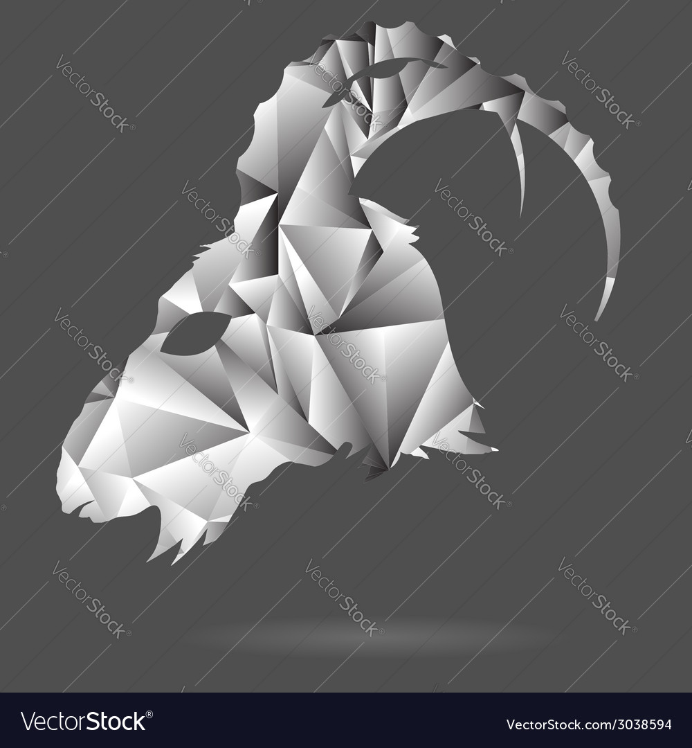 Abstract goat head vector | Price: 1 Credit (USD $1)