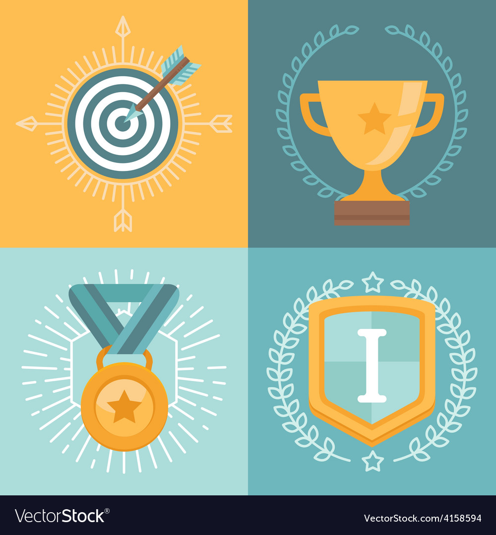 Achievement badges vector | Price: 1 Credit (USD $1)