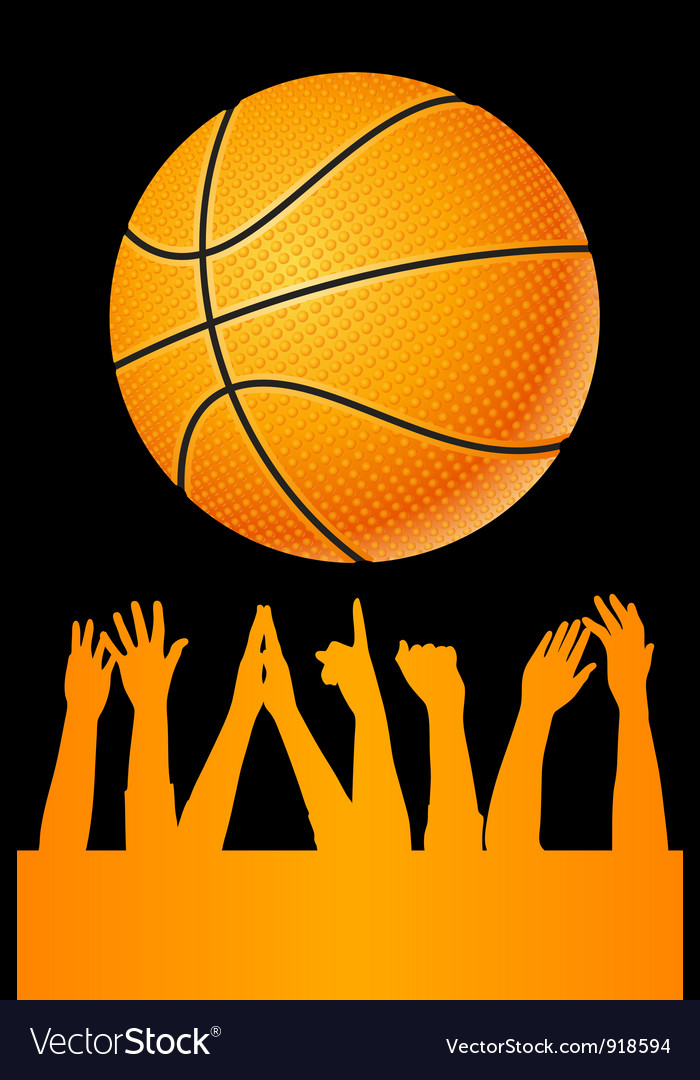 Basketball background vector | Price: 1 Credit (USD $1)