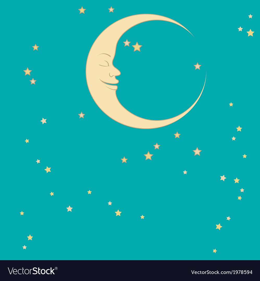 Crescent and star vector | Price: 1 Credit (USD $1)
