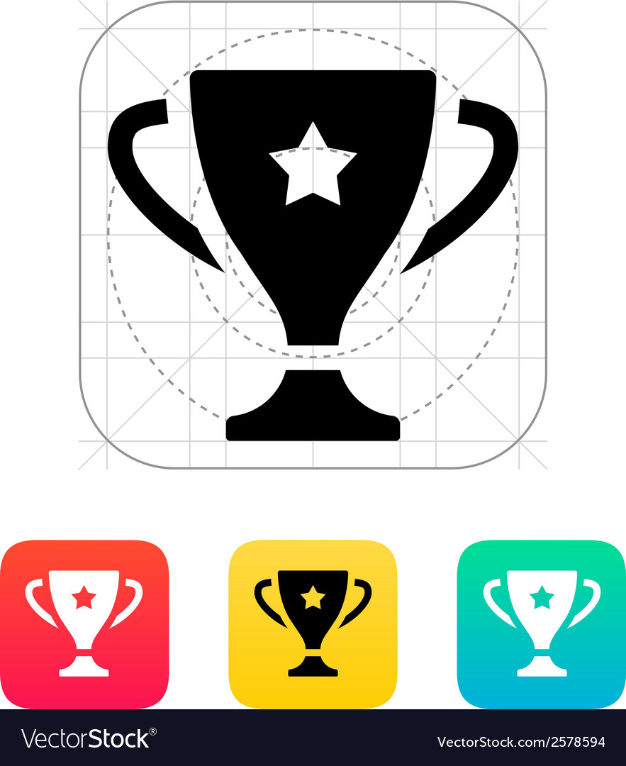 Favorite cup icon vector | Price: 1 Credit (USD $1)