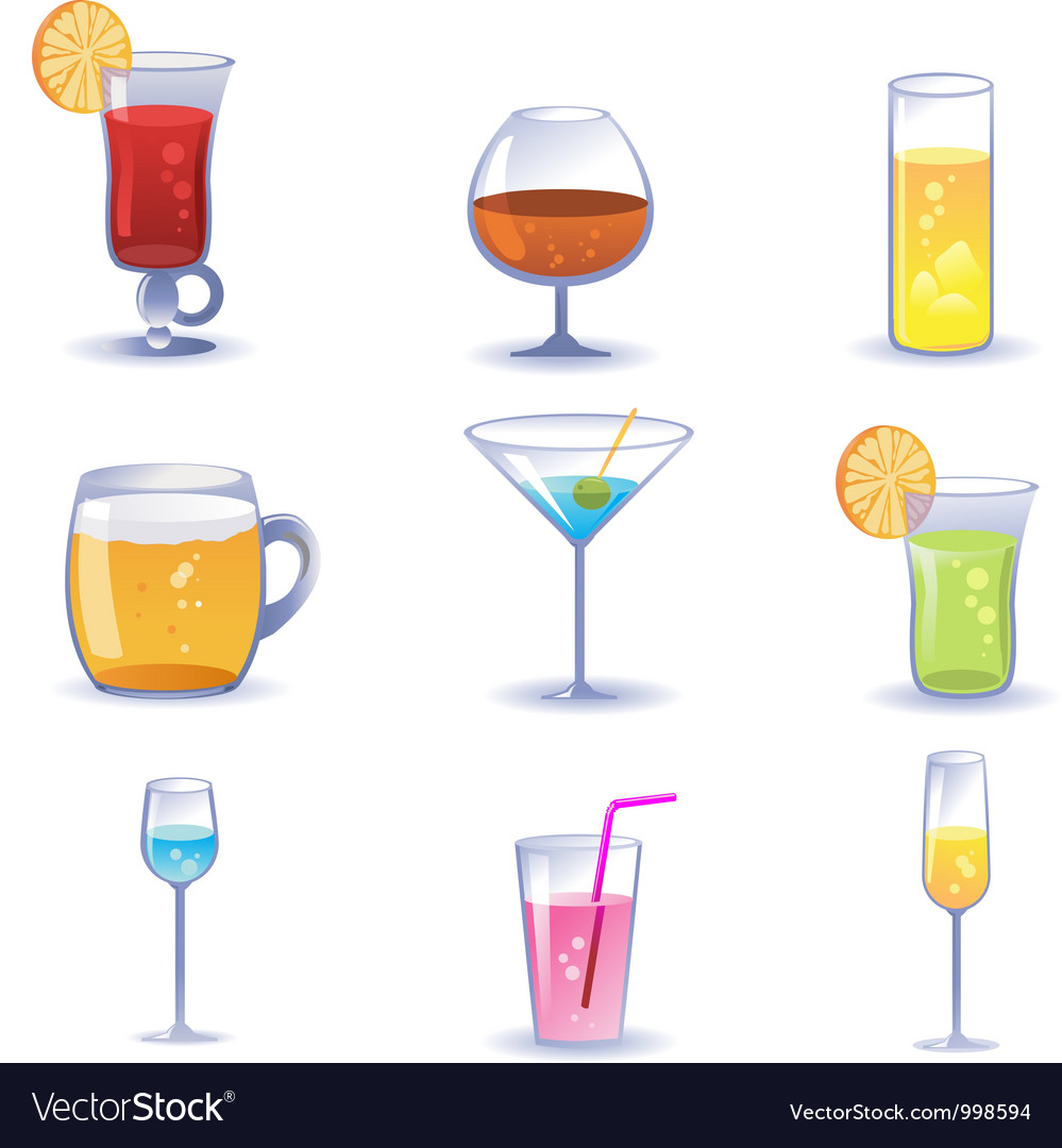 Set of summer cocktails vector | Price: 1 Credit (USD $1)