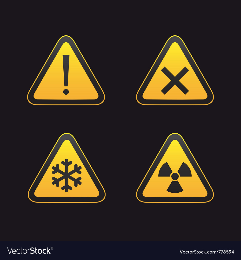 Set of triangular warning vector | Price: 1 Credit (USD $1)