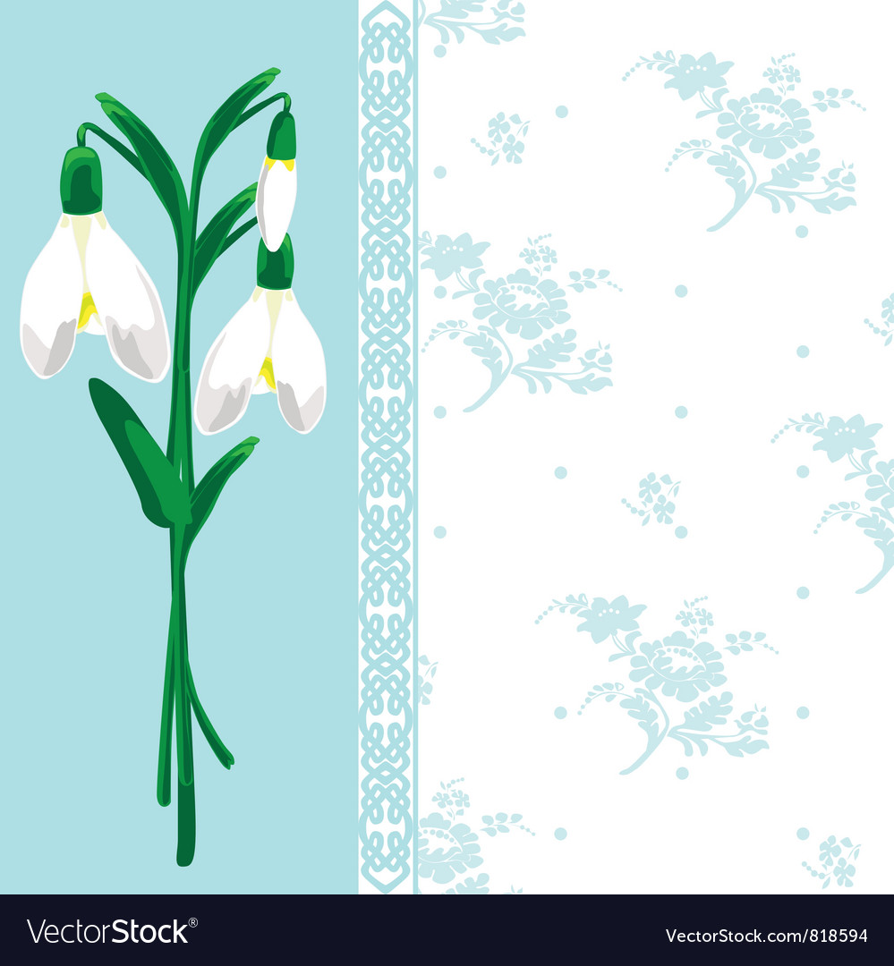 Spring postcard vector | Price: 1 Credit (USD $1)