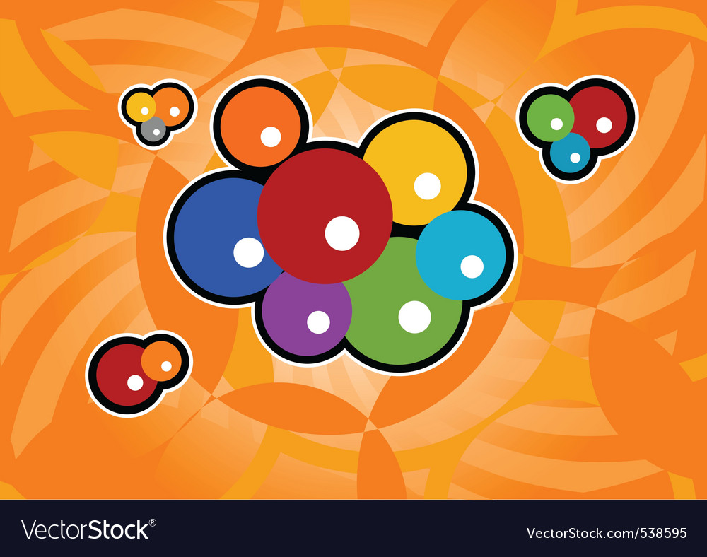 Abstract orange background with color bubble vector | Price: 1 Credit (USD $1)