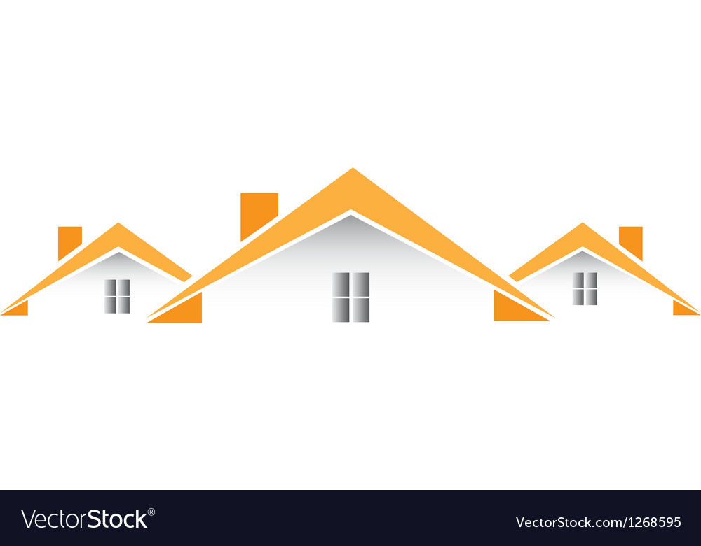 Architectural houses logo vector | Price: 1 Credit (USD $1)