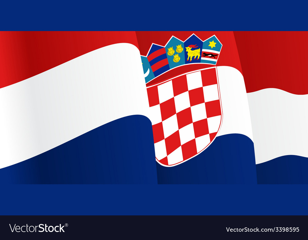 Background with waving croatian flag vector | Price: 1 Credit (USD $1)