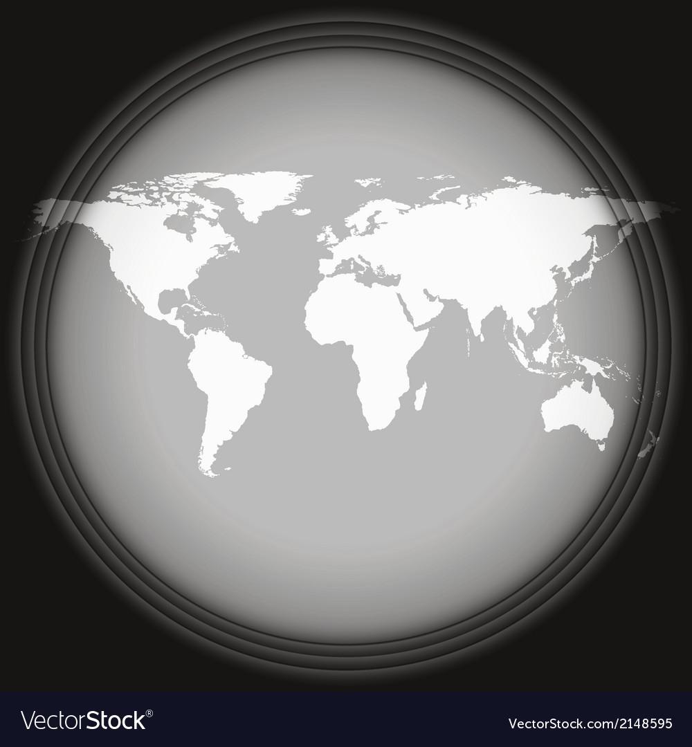 Black world map vector | Price: 1 Credit (USD $1)