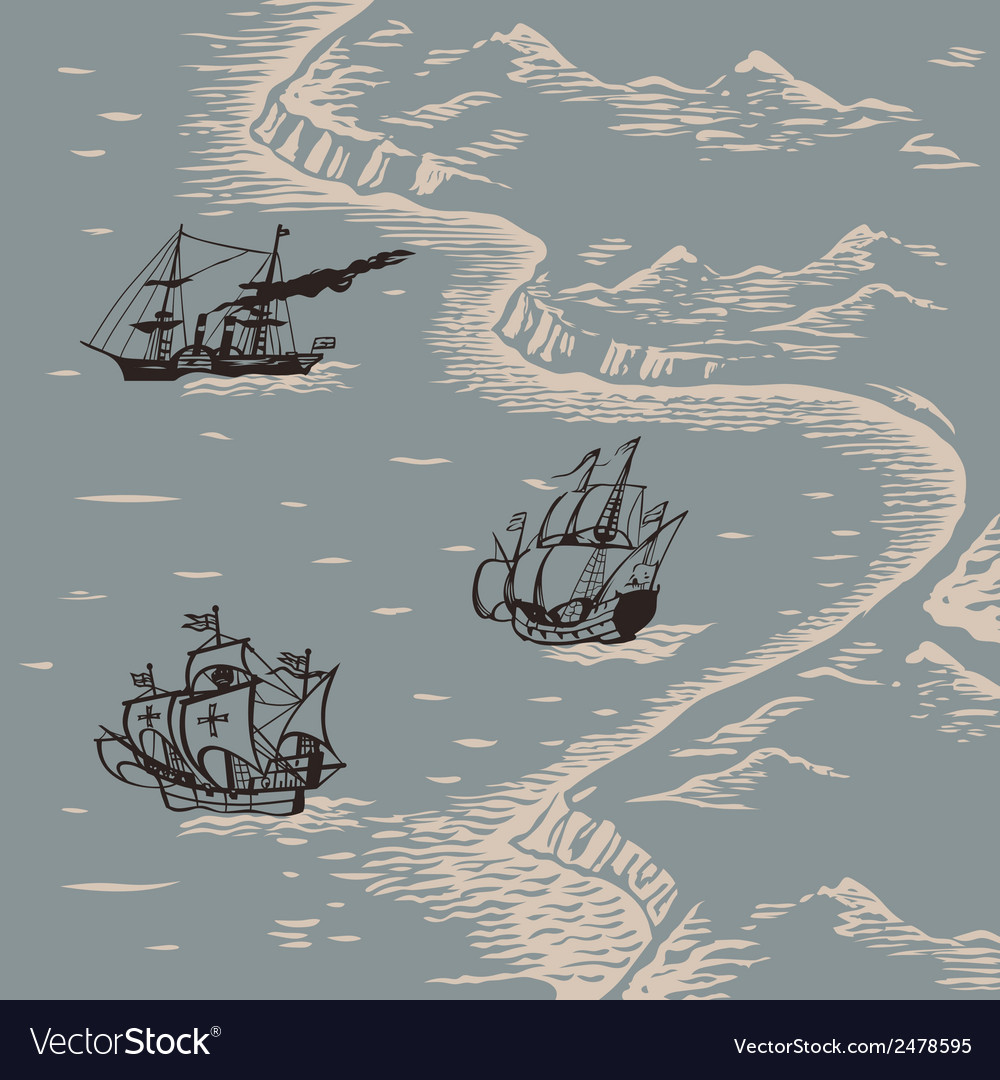 Land and sea vector | Price: 1 Credit (USD $1)