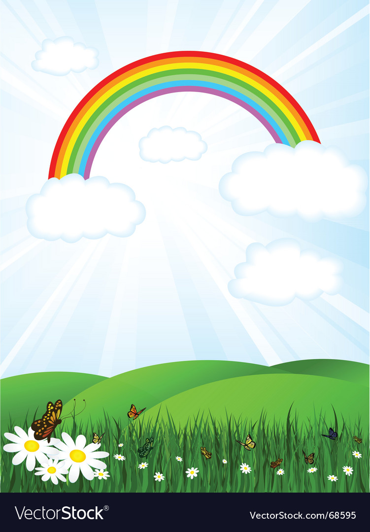 Rainbow sky vector | Price: 1 Credit (USD $1)