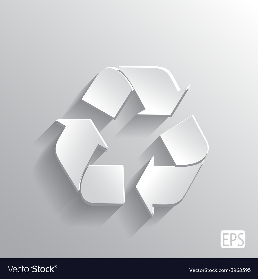 Recycle symbol with monochrome leaf plants vector   Price: 1 Credit (USD $1)