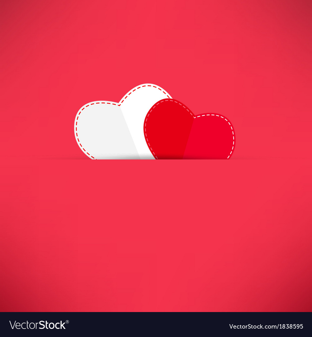 Red valentines day background with heart vector | Price: 1 Credit (USD $1)
