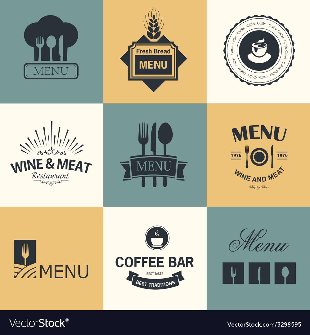 Restaurant signs vector | Price: 1 Credit (USD $1)