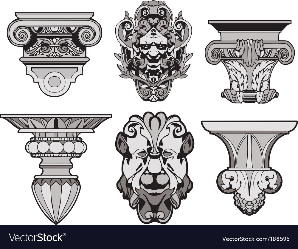 Roman architectural decorations vector | Price: 1 Credit (USD $1)