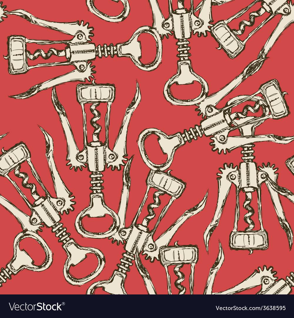 Sketch cute corkscrew in vintage style vector | Price: 1 Credit (USD $1)