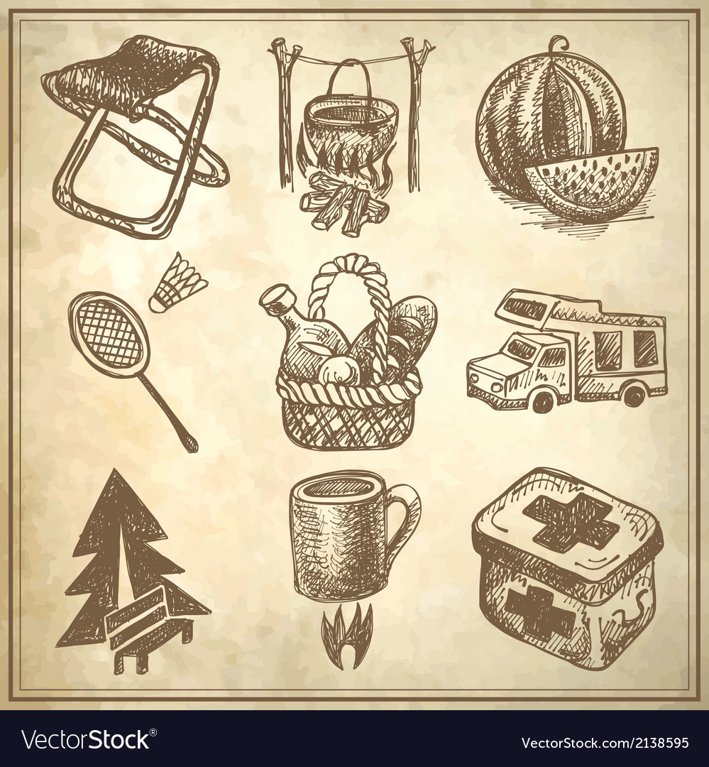 Sketch doodle icon collection vector | Price: 1 Credit (USD $1)