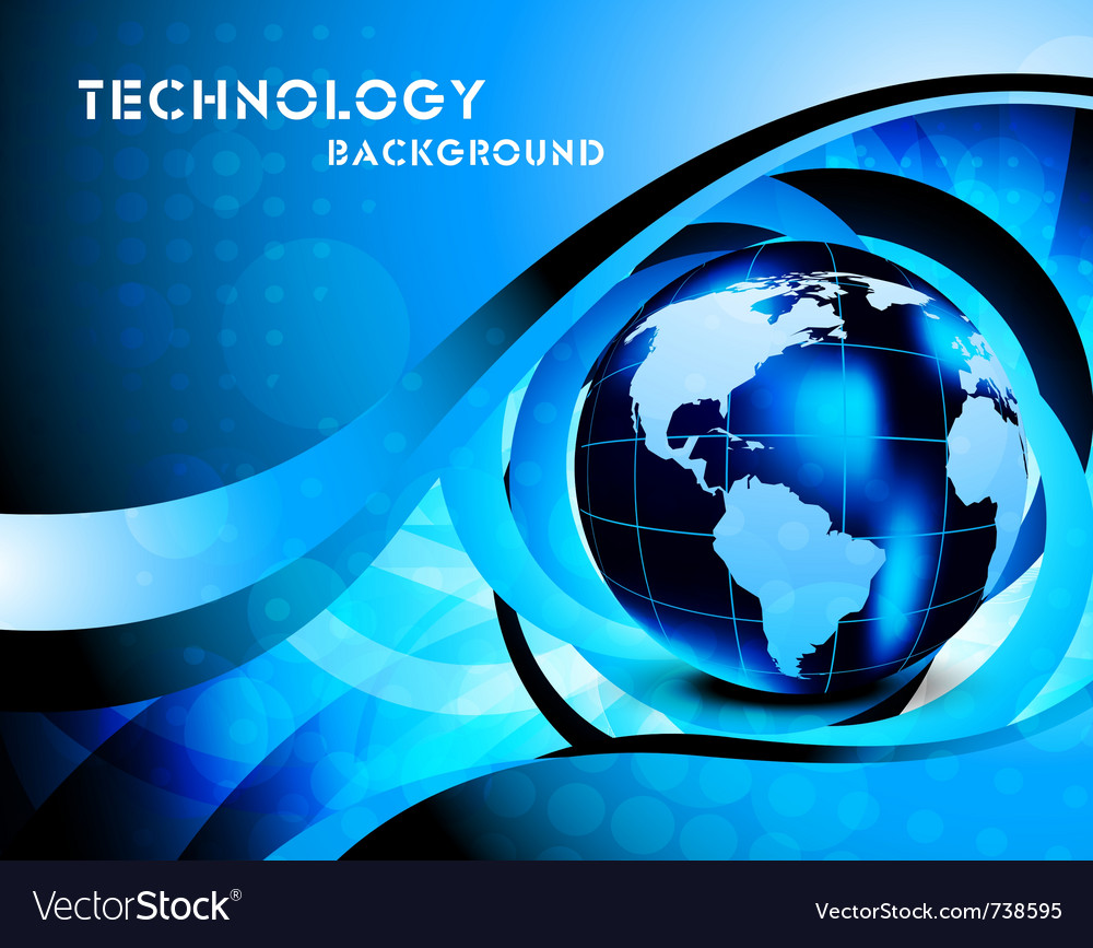 Tech background with globe vector | Price: 1 Credit (USD $1)