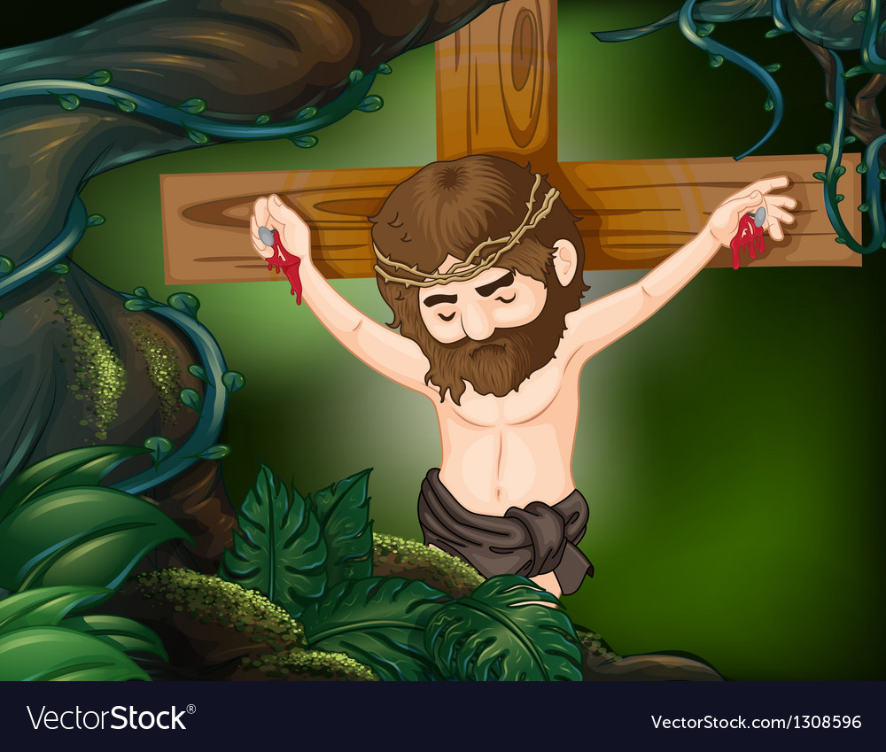 A cross at the rainforest vector | Price: 1 Credit (USD $1)