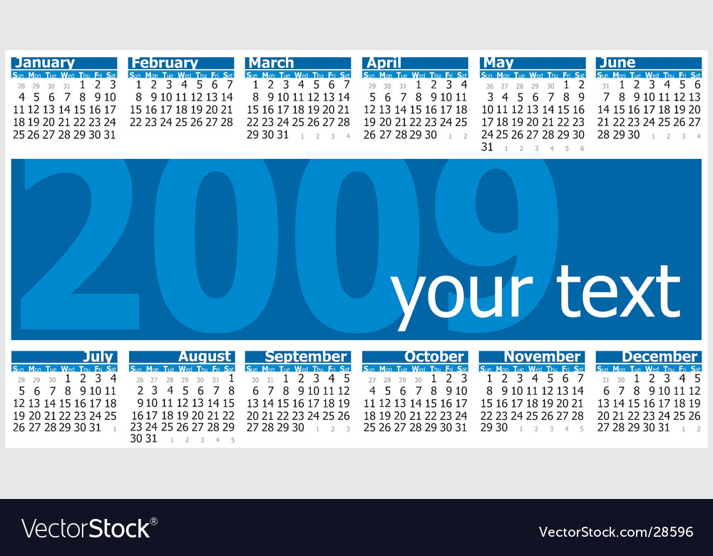 Calendar 2009 vector | Price: 1 Credit (USD $1)
