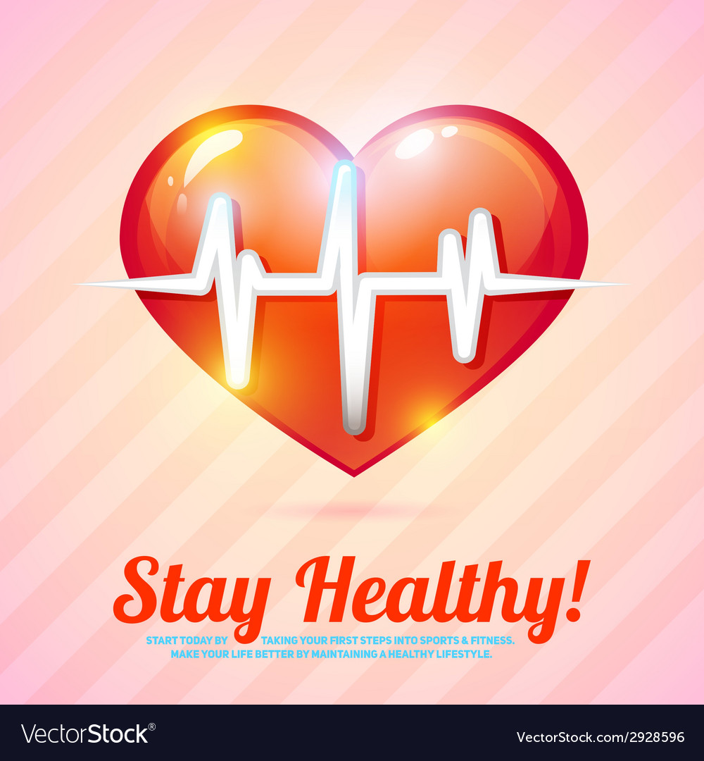Healthy lifestyle background vector | Price: 1 Credit (USD $1)