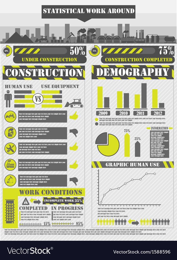 Infographic work vector | Price: 1 Credit (USD $1)