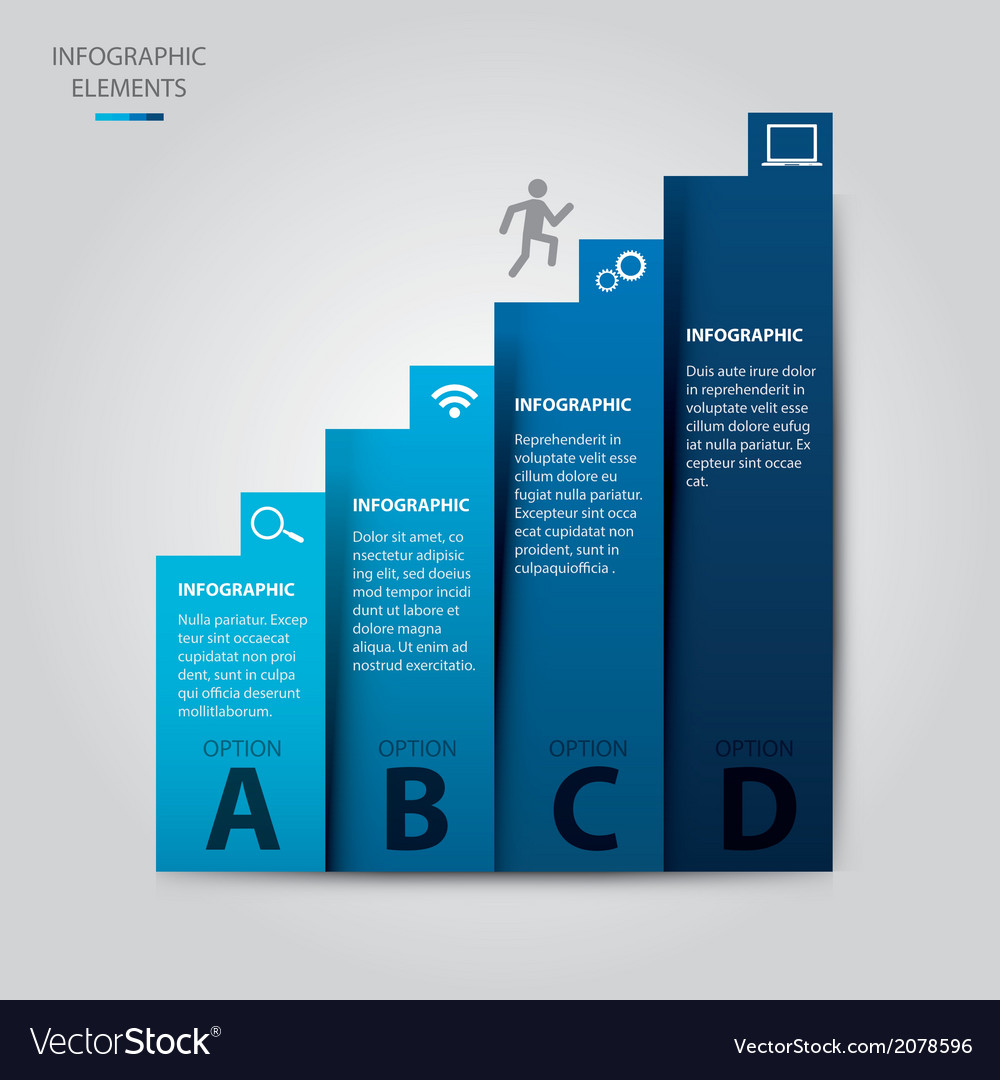 Ladder of success infographic vector | Price: 1 Credit (USD $1)