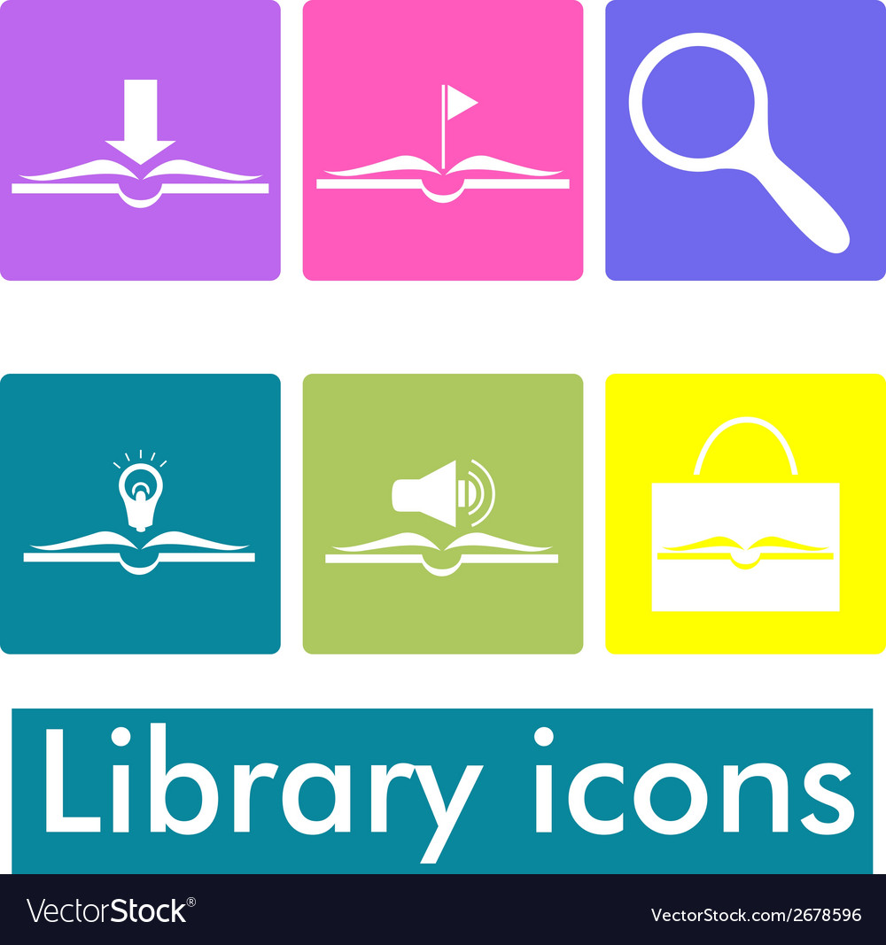 Library icons vector | Price: 1 Credit (USD $1)