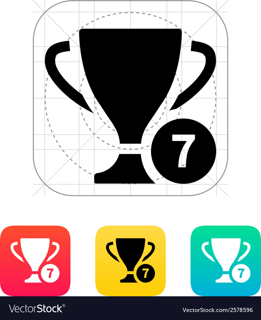 Number of cups icon vector | Price: 1 Credit (USD $1)