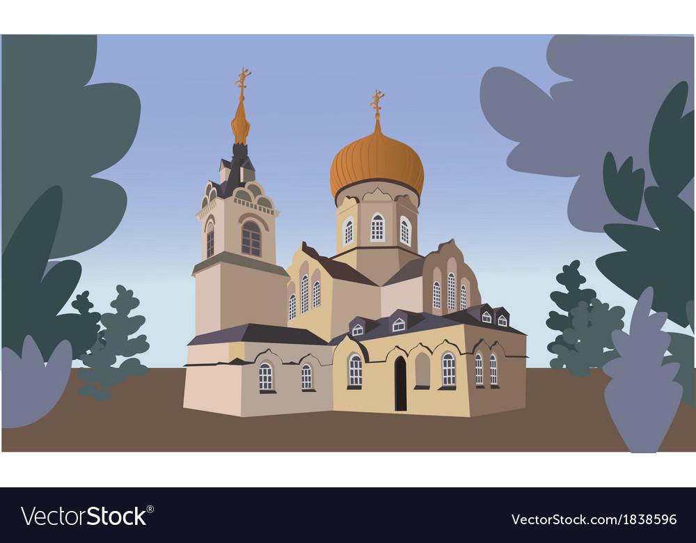 Orthodox church vector | Price: 1 Credit (USD $1)