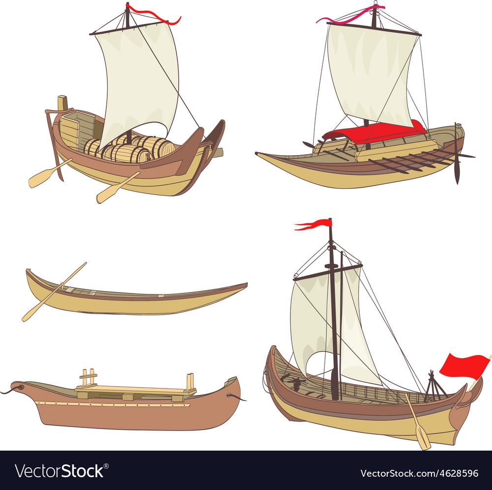 Ship set vector