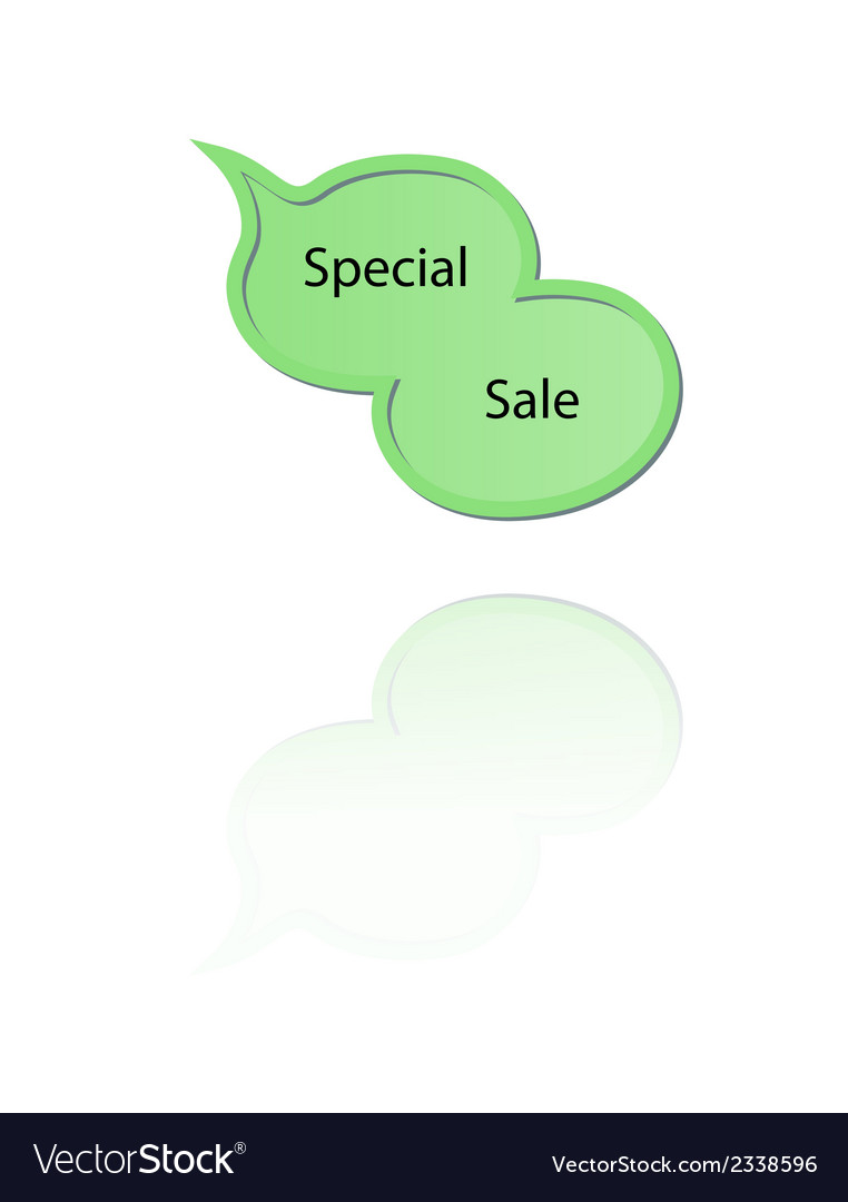 Speak bubble with special sale vector | Price: 1 Credit (USD $1)
