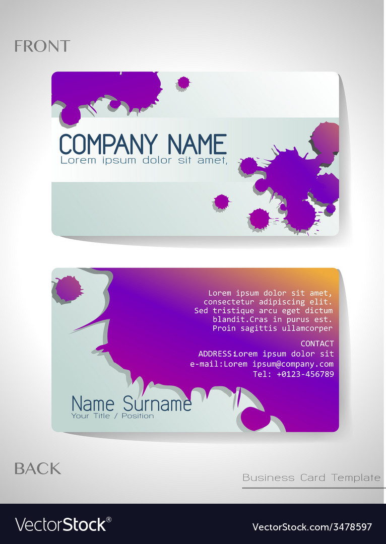 A grey and violet colored card vector | Price: 1 Credit (USD $1)