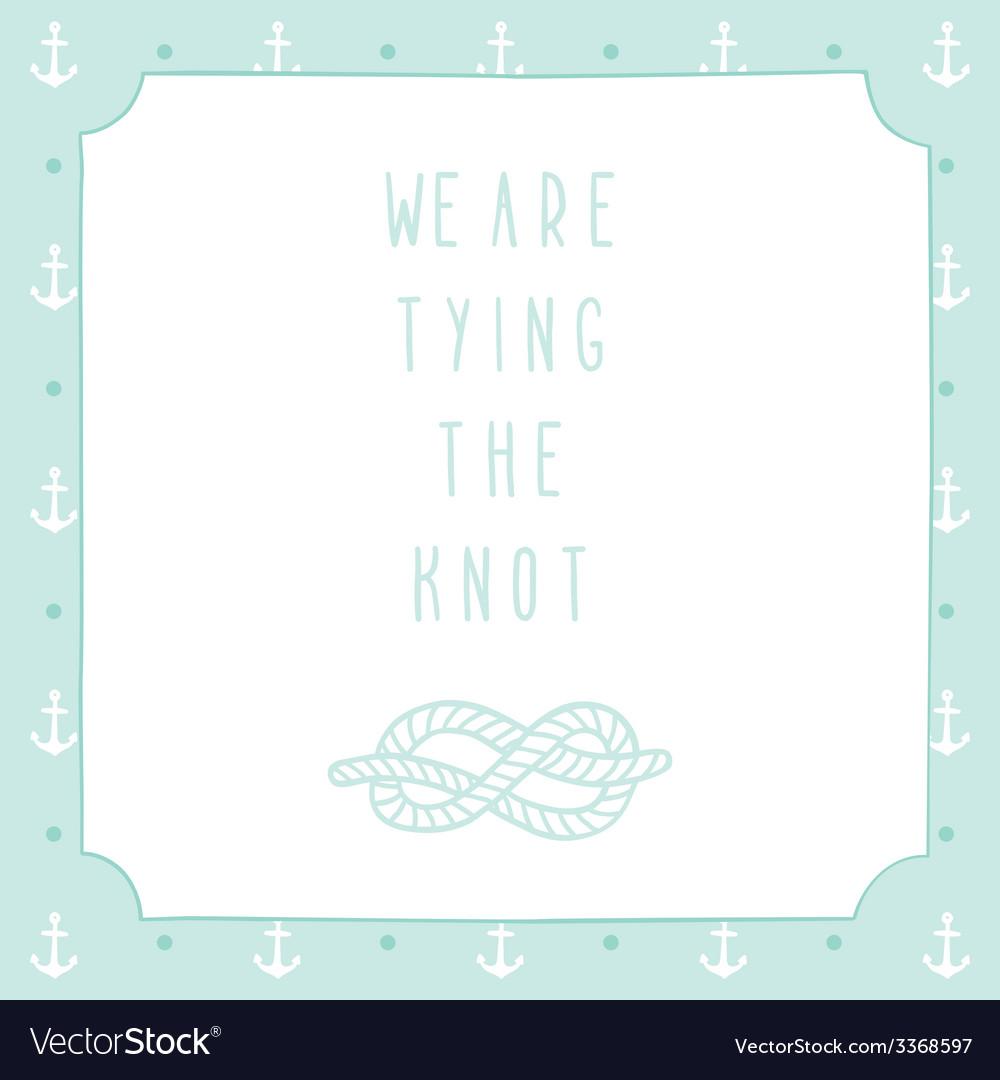 Anchor wedding invitation template vector | Price: 1 Credit (USD $1)