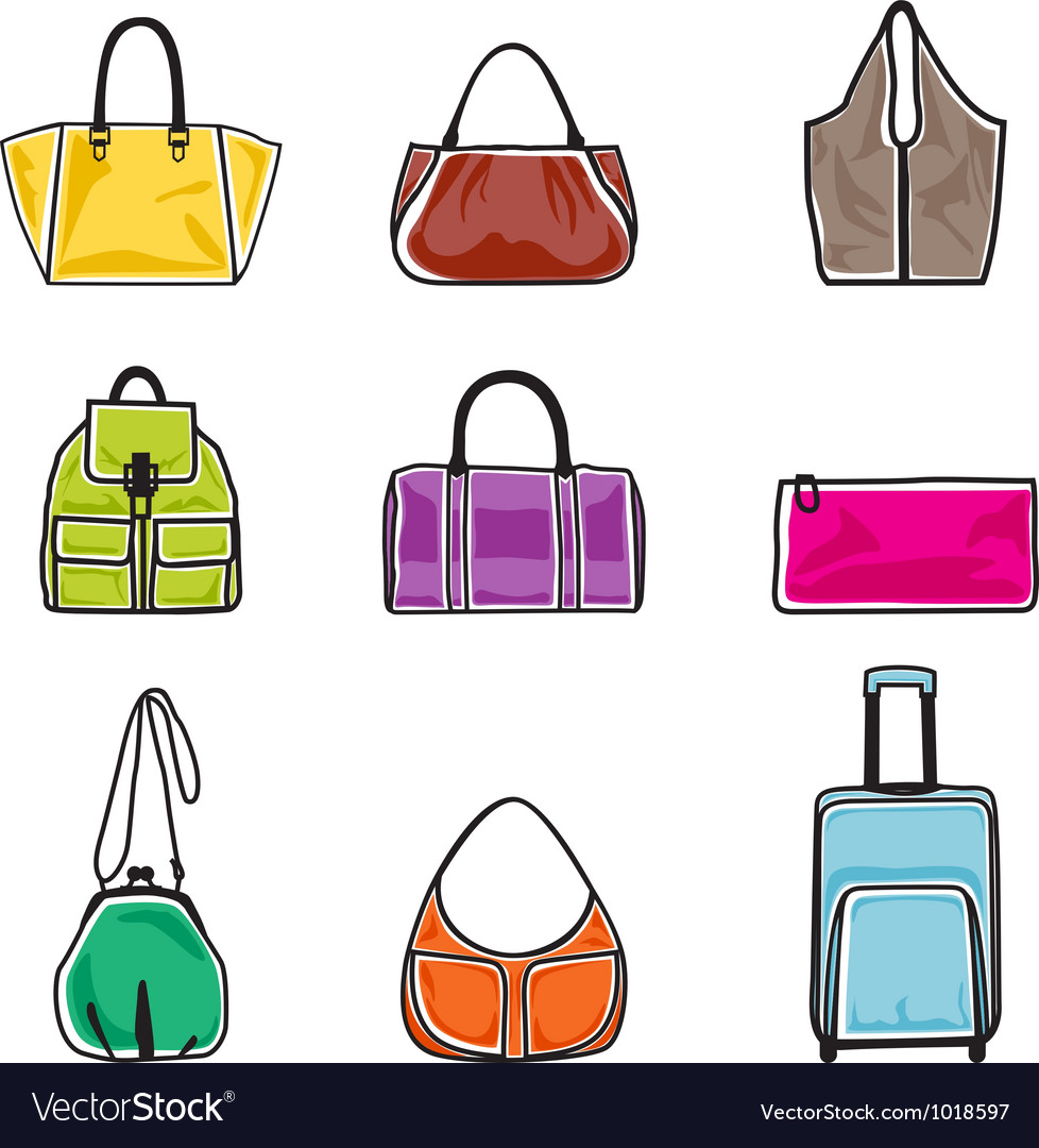Bags icon set vector | Price: 1 Credit (USD $1)