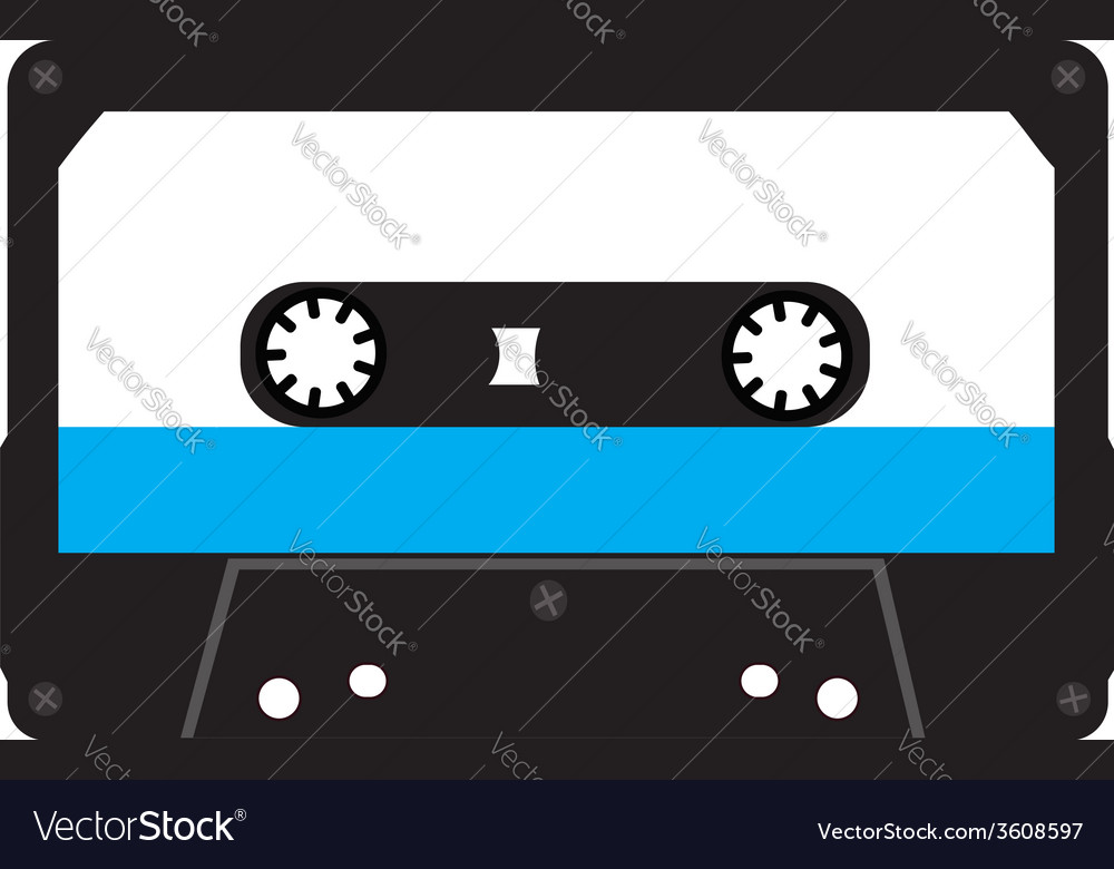 Cassette tape isolated on a white background vector | Price: 1 Credit (USD $1)
