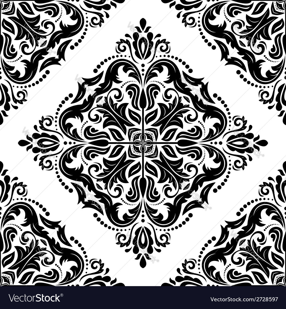 Damask seamless pattern abstract background vector | Price: 1 Credit (USD $1)