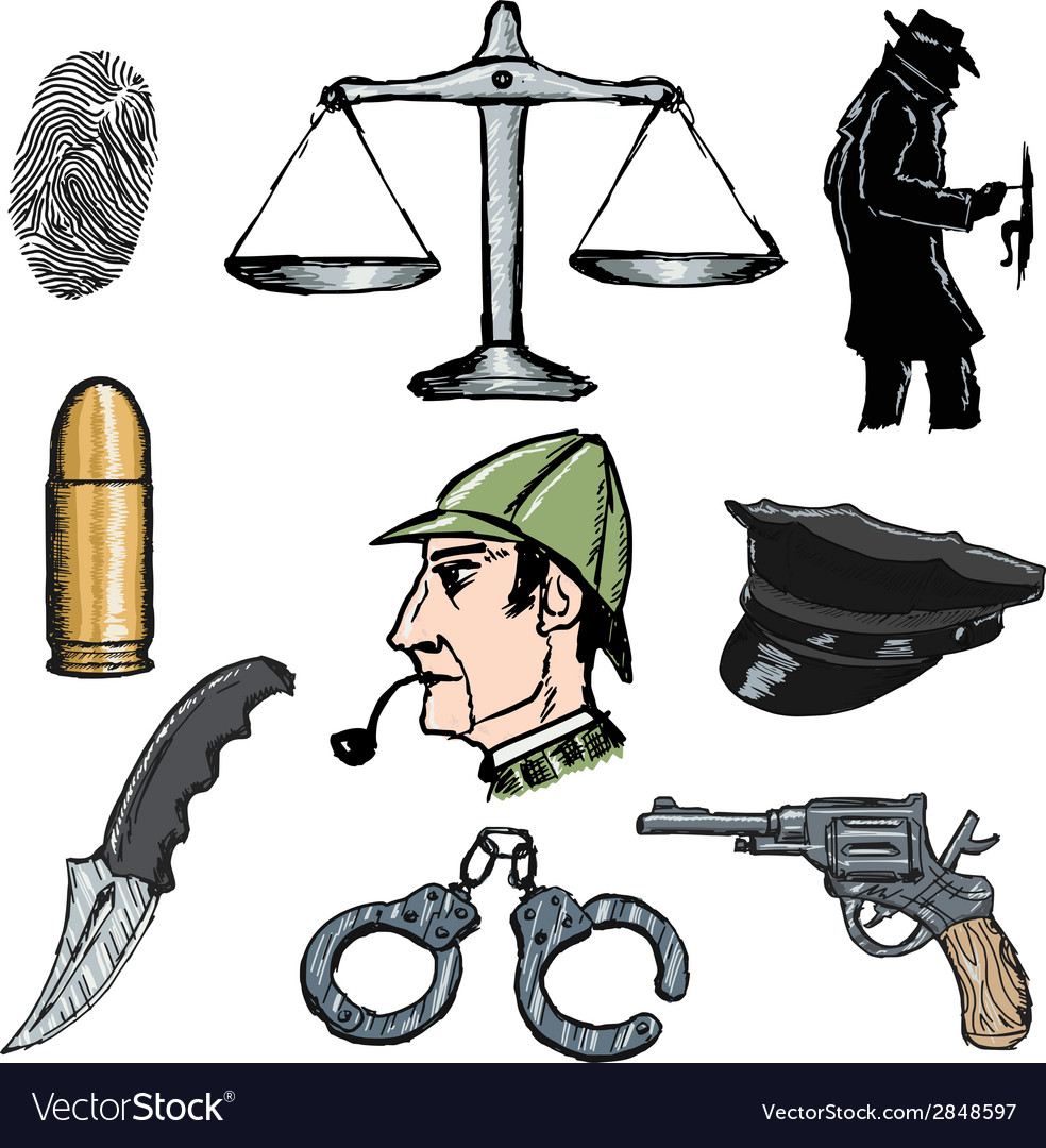 Detective objects vector | Price: 1 Credit (USD $1)