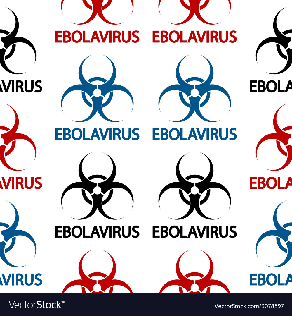 Ebola danger signs seamless pattern vector | Price: 1 Credit (USD $1)