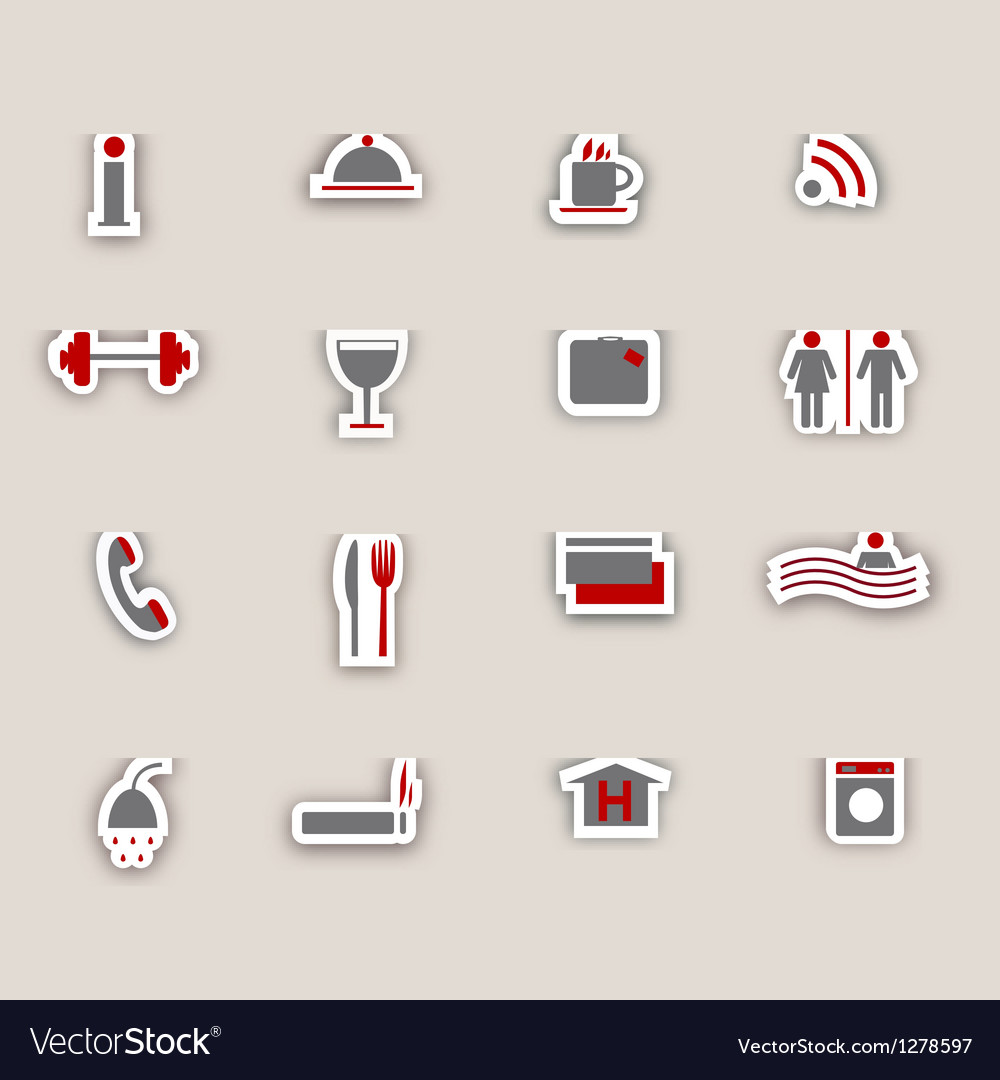 Hotel icons colage vector | Price: 1 Credit (USD $1)