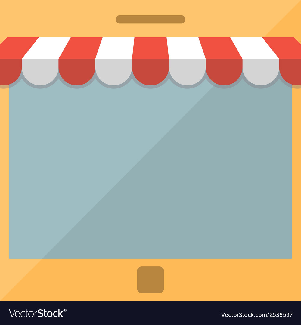 Mobile phone online store concept vector | Price: 1 Credit (USD $1)