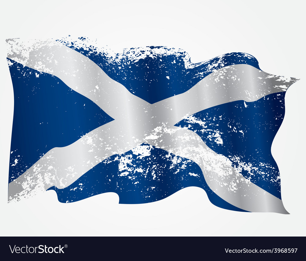 Scotland or scottish grunge flag vector | Price: 1 Credit (USD $1)