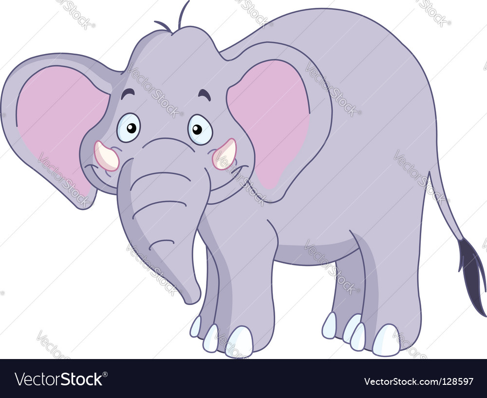 Smiley elephant vector | Price: 1 Credit (USD $1)