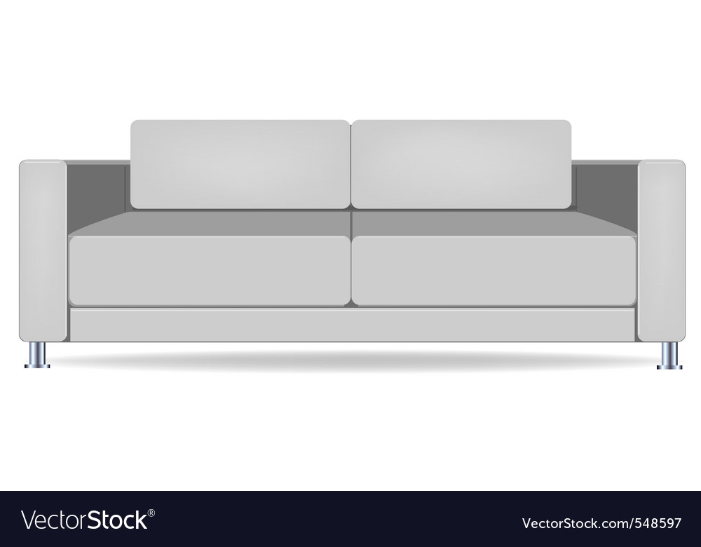 Sofa isolated on white vector | Price: 1 Credit (USD $1)