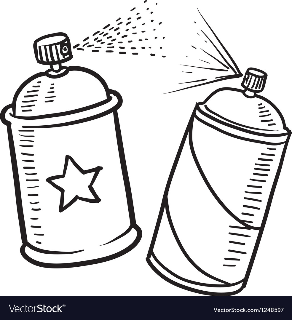 Spray paint cans vector | Price: 1 Credit (USD $1)