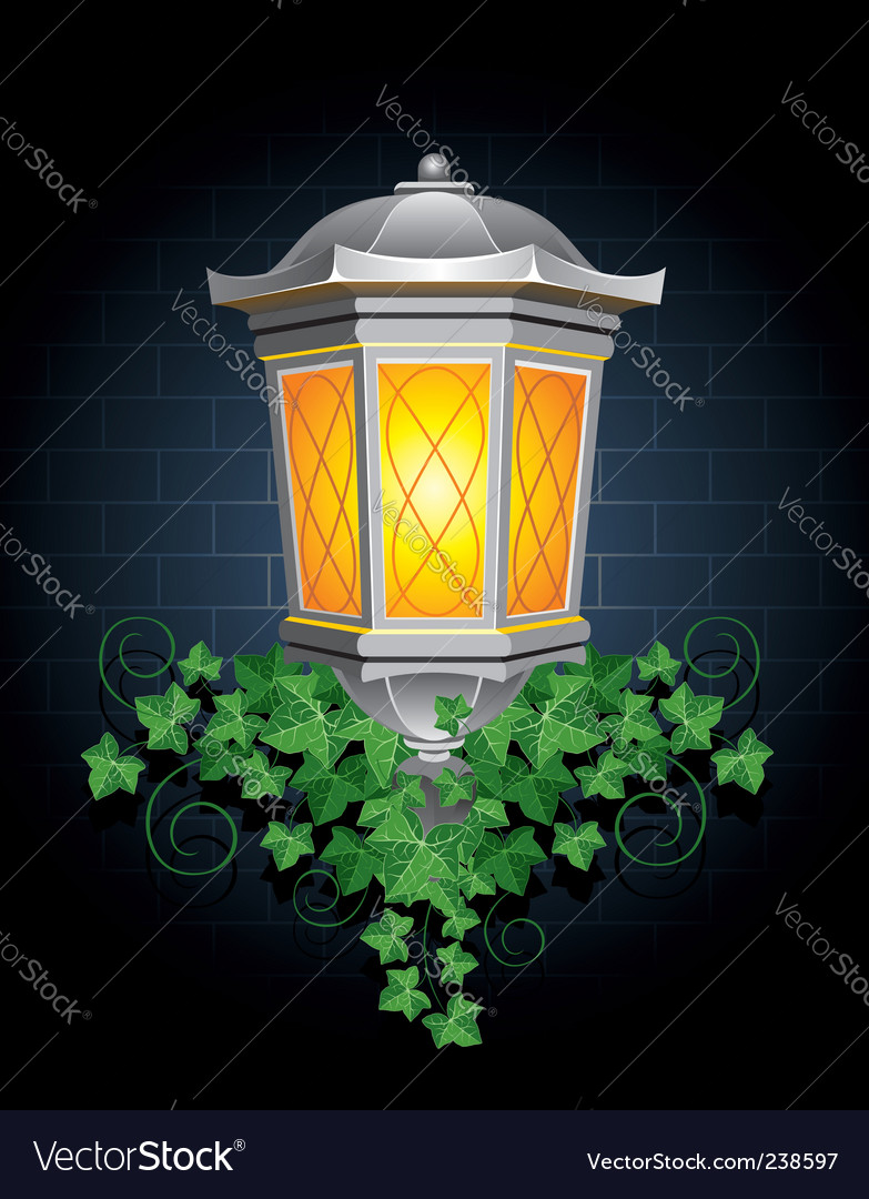 Street lantern vector | Price: 1 Credit (USD $1)